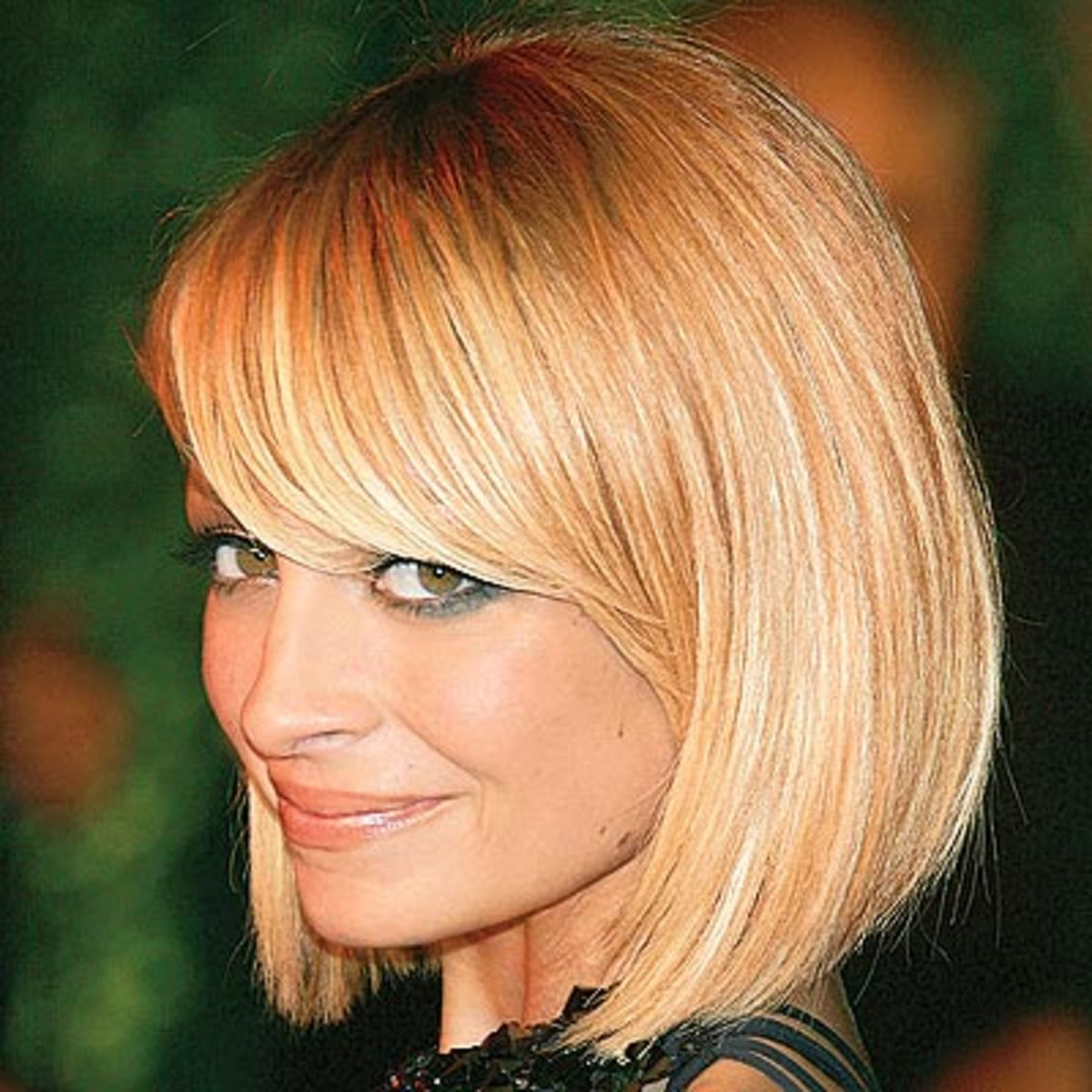 Nicole Richie in a Bob with Side-swept Bangs