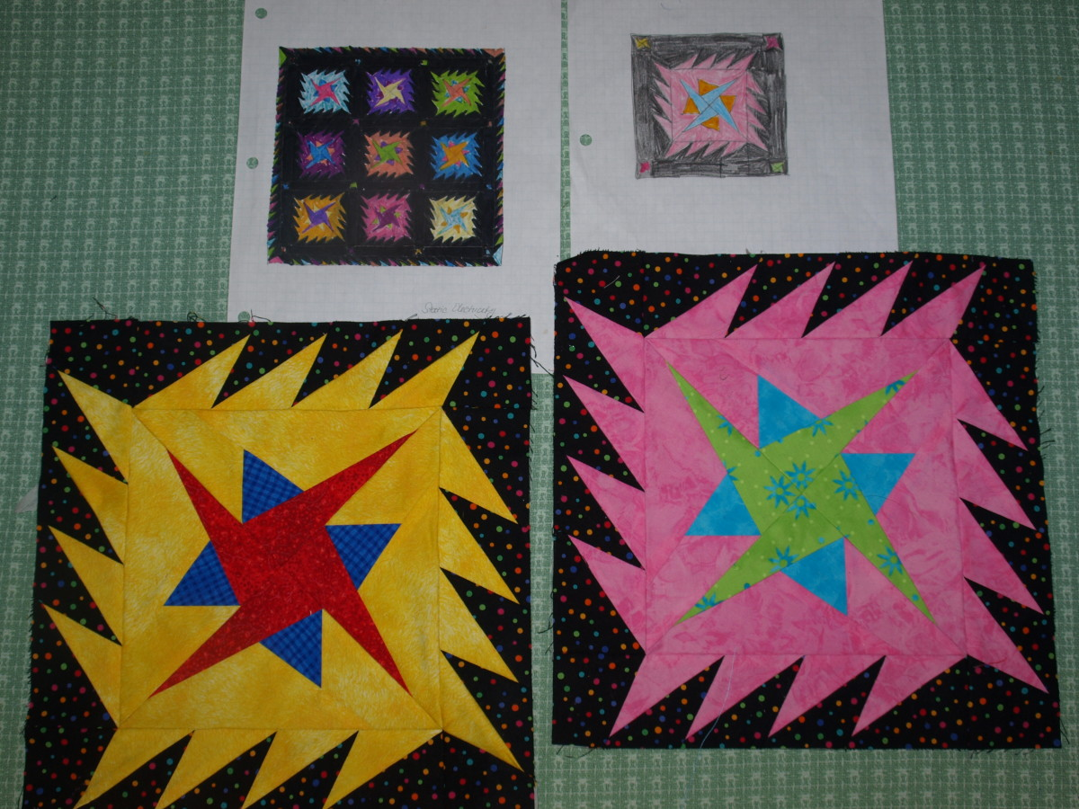 """""""Static Electricity"""" Original Quilt Design by the author"""