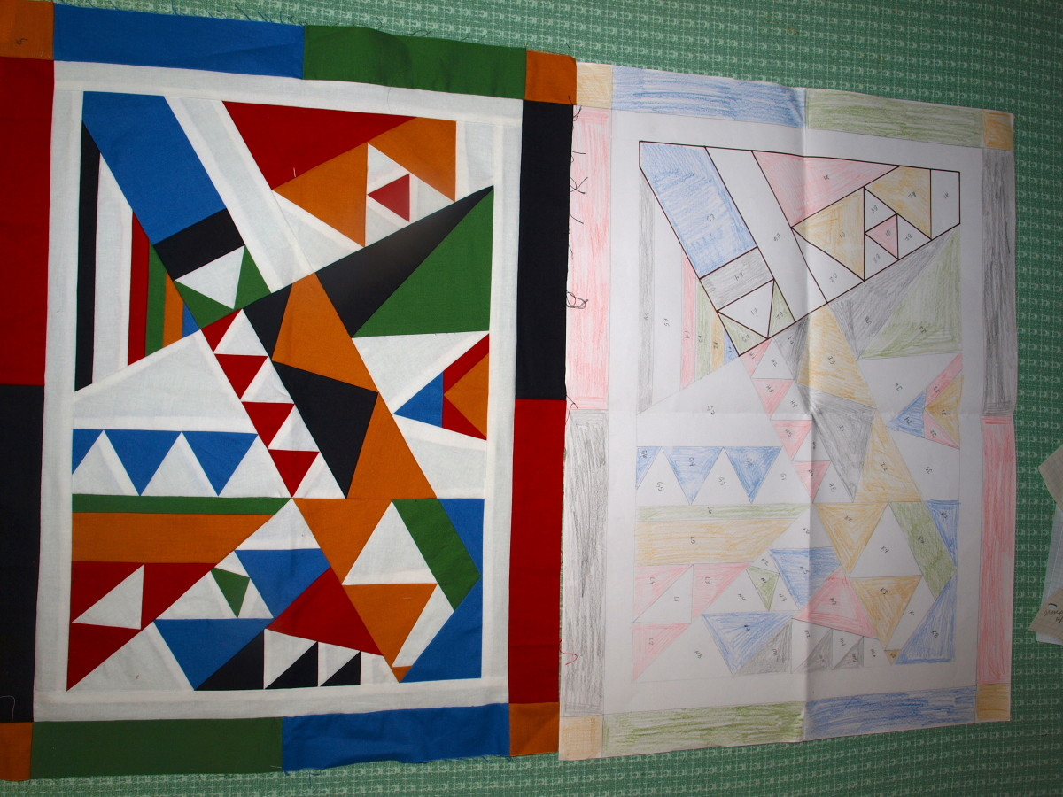 """The Shape of Things to Come"" Original Quilt Design by Glimmer Twin Fan"