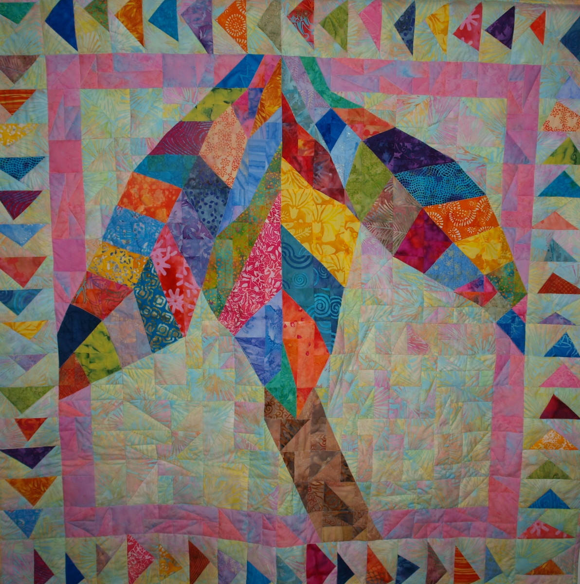 """Key West"" Original Quilt by Glimmer Twin Fan"