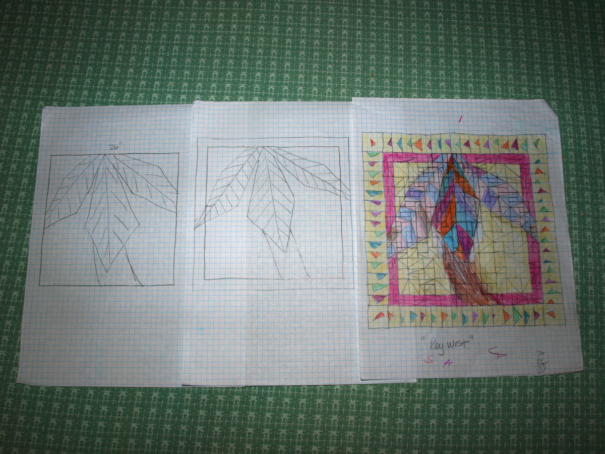 "Original Sketches for ""Key West"" Quilt"