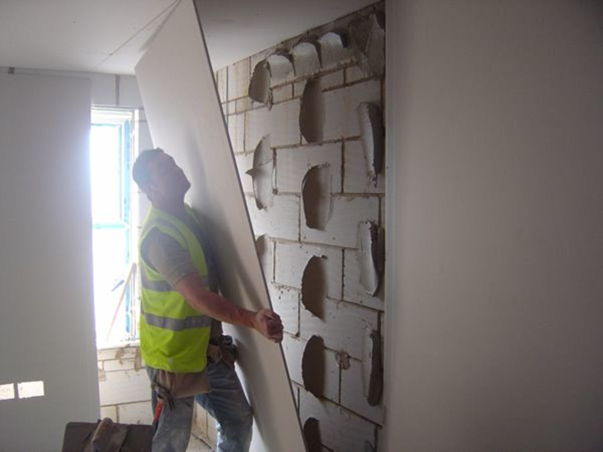 Dot and Dabbing Plasterboards