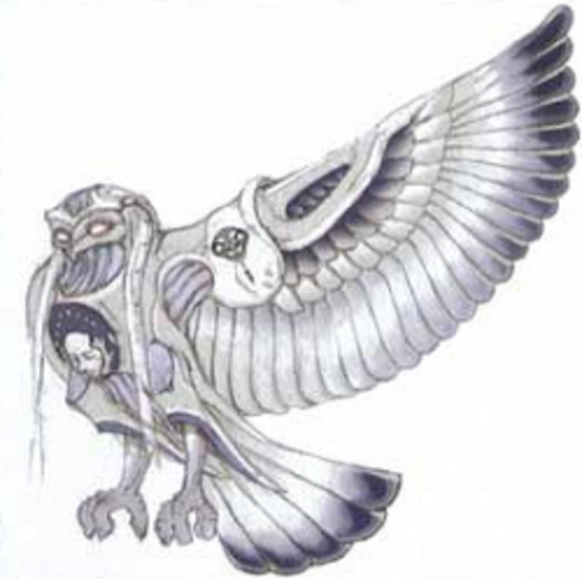 Menrva, the owl in Final Fantasy XIII