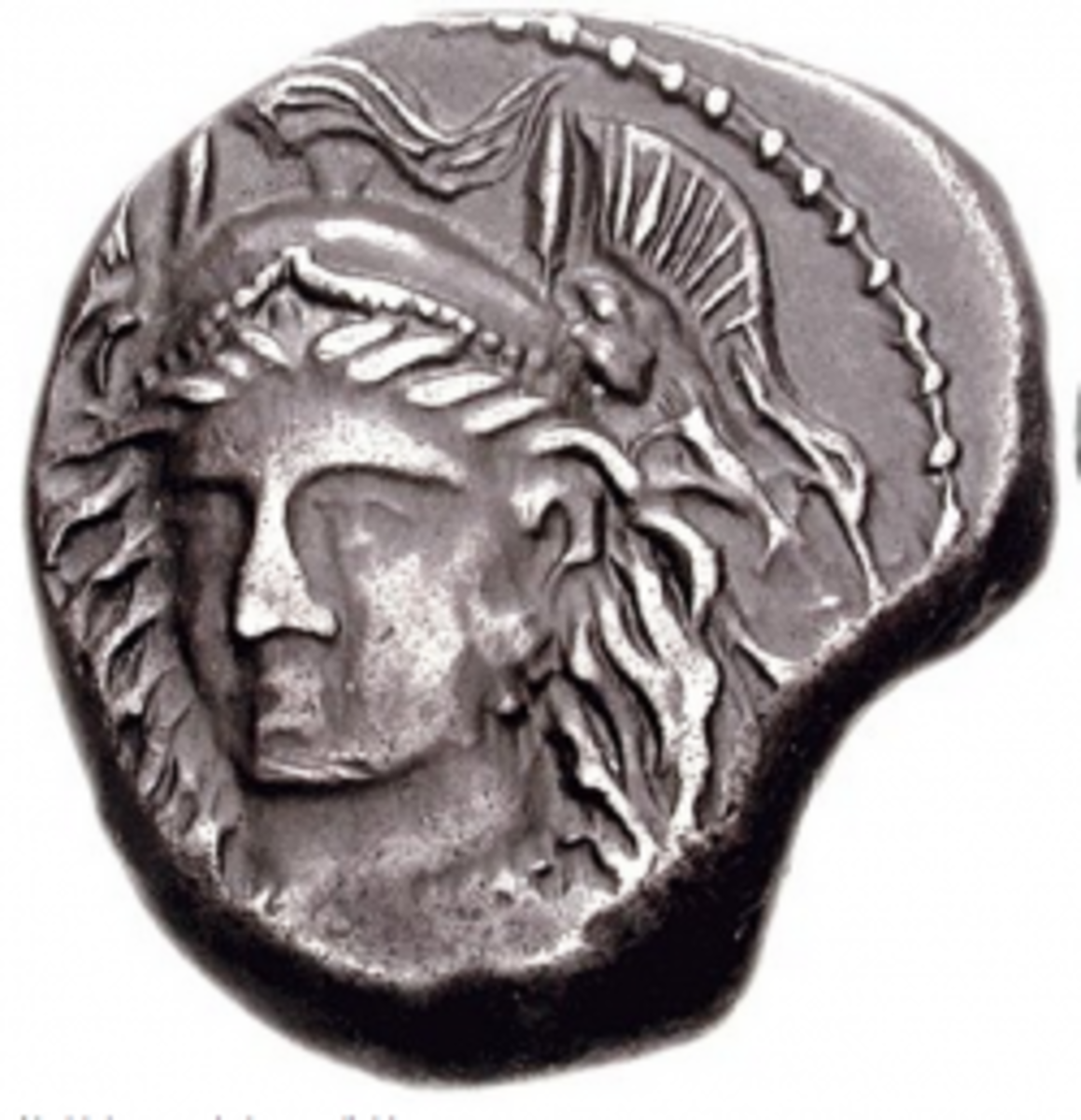 Goddess Menrva (Roman Coin from area formerly ruled by Etruscans)