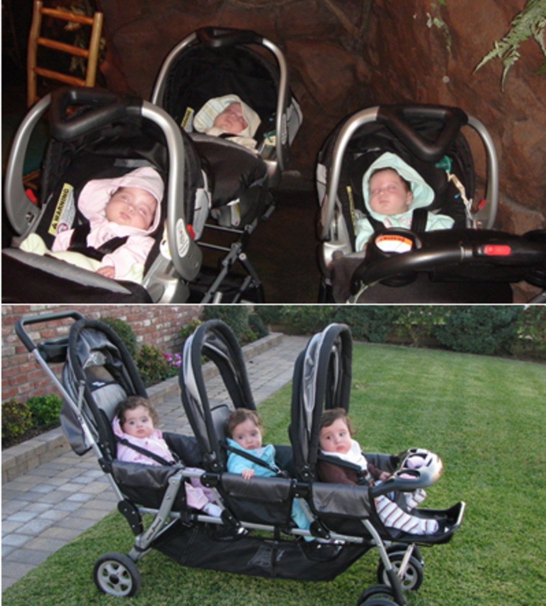 My Two choices for triplets strollers