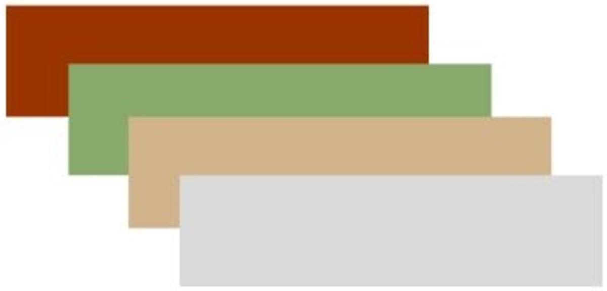 Chocolate, Asparagus, tan and light grey