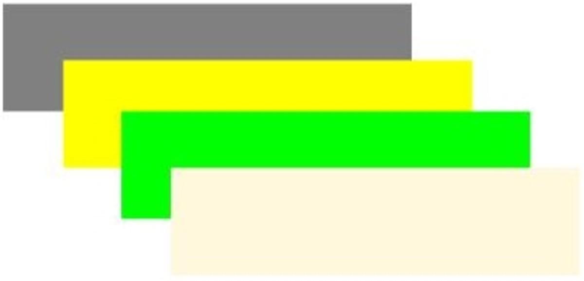 Grey, yellow,lime and cornsilk