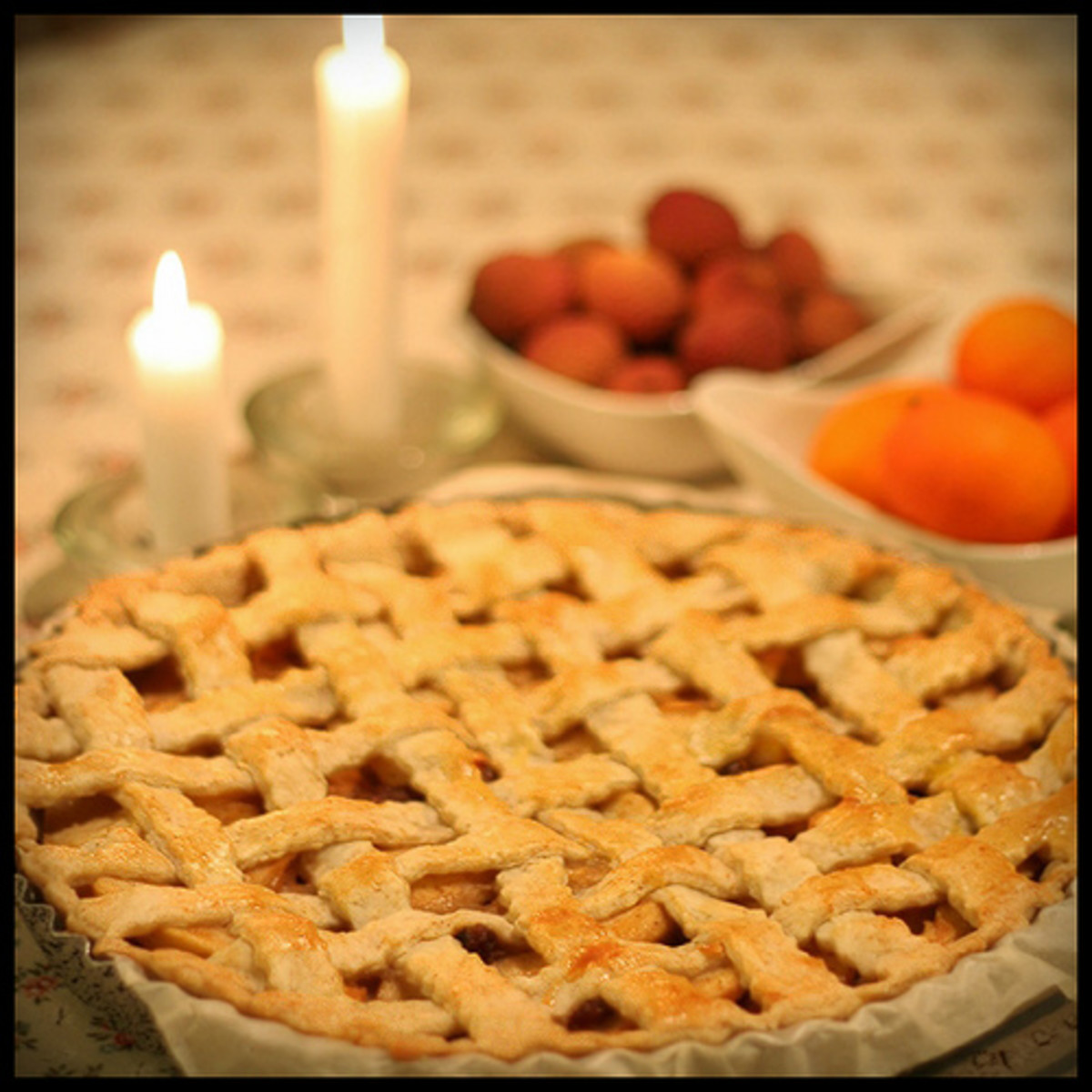 This is how a lattice pie crust is supposed to look.  The remaining photos were taken by the author.