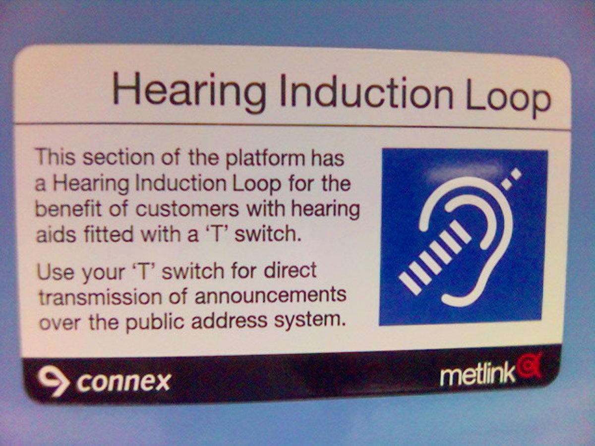 Induction loops are common in public locations - hearing aids must have the telecoil enabled to benefit from an induction loop system.