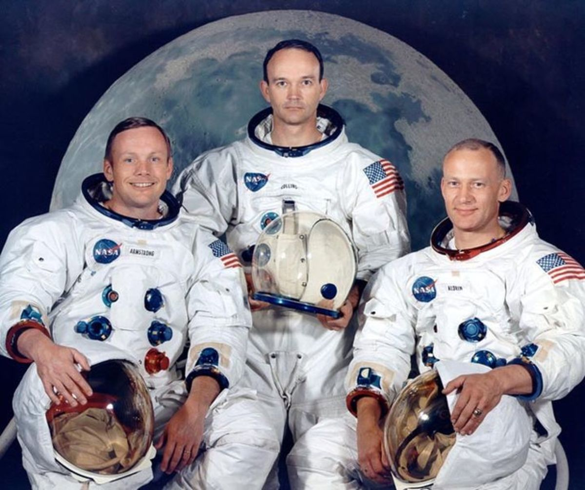 The crew of Apollo 11- Armstrong, Aldrin, and Collins