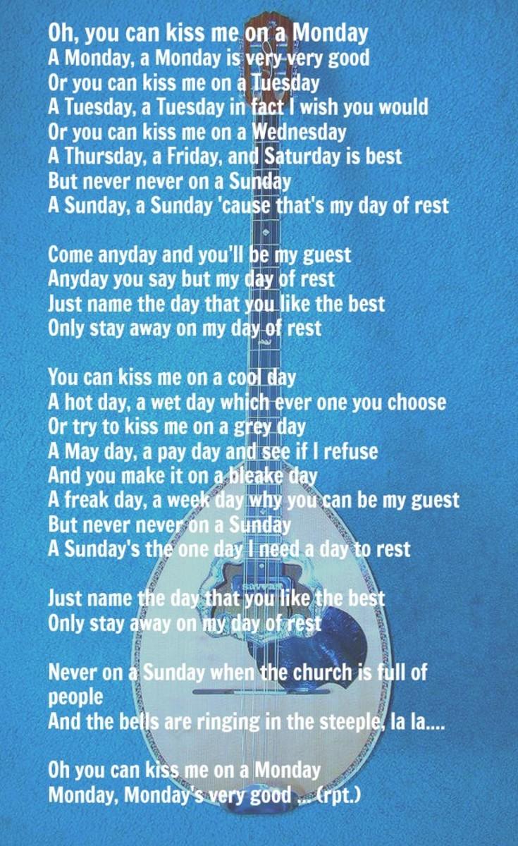 Lyrics by: Billy Towne Music: Manos Hadjidakis