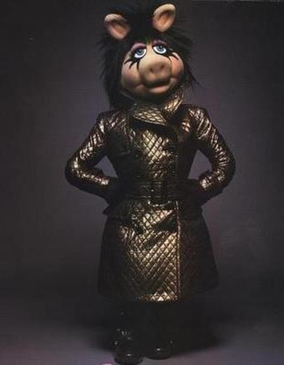 Miss Piggy in Burberry