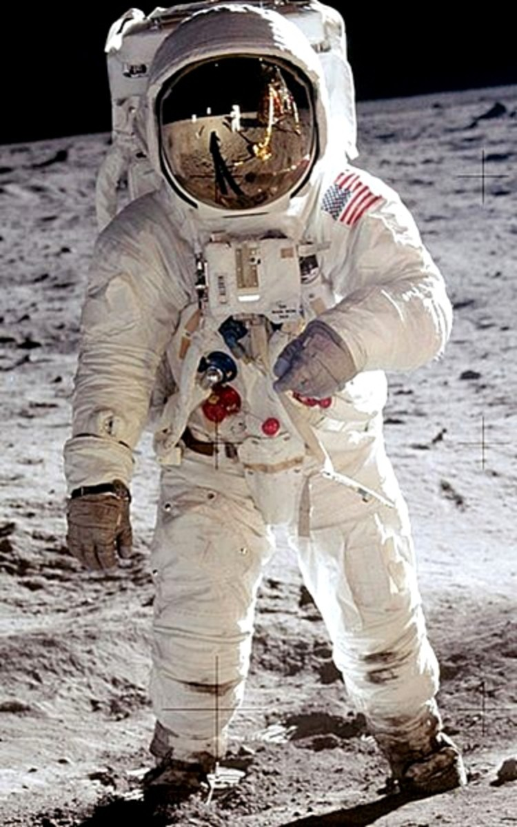 Another photograph of astronaut Edwin Aldrin taken by Neil Armstrong.