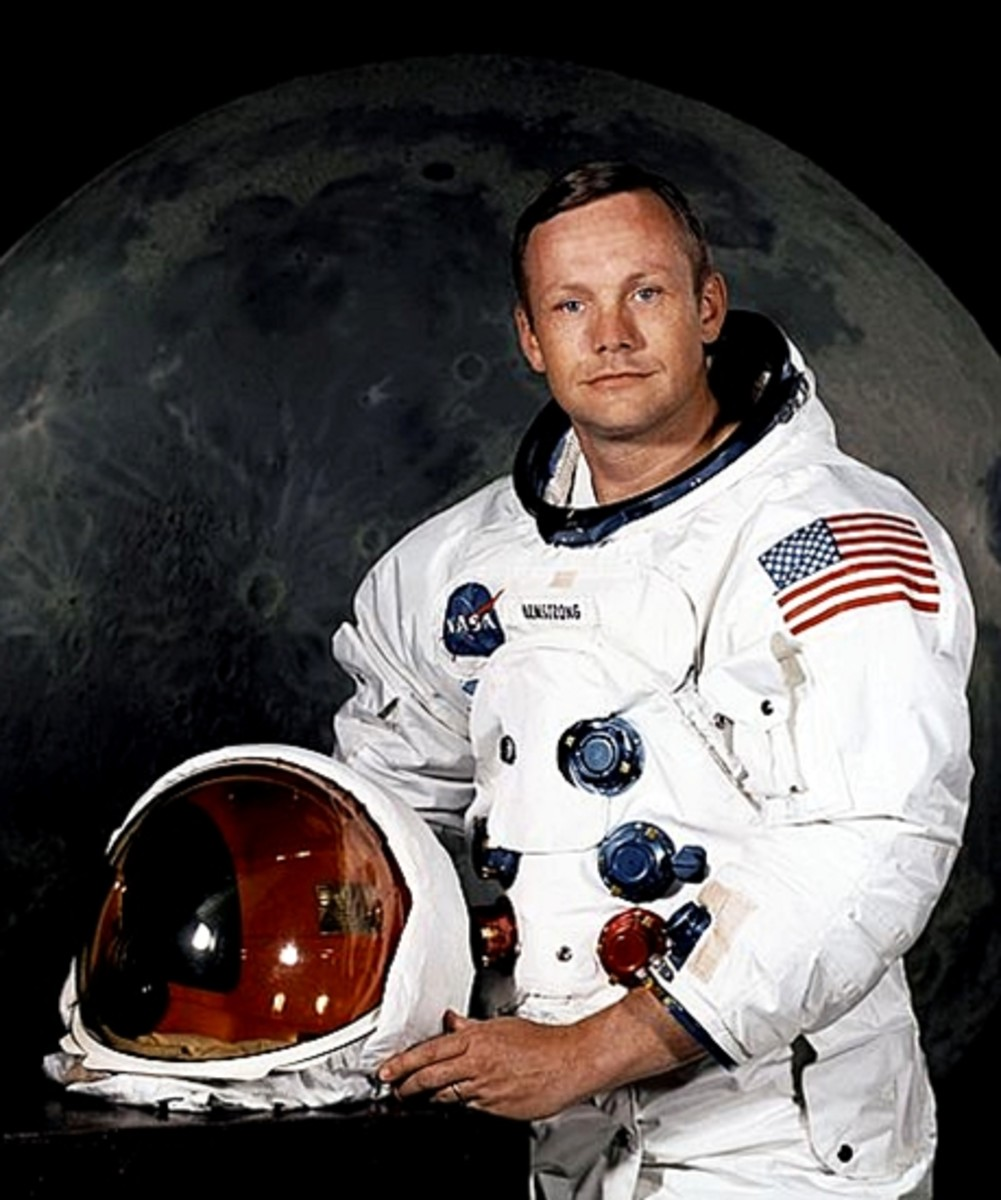 A portrait of Neil Armstrong