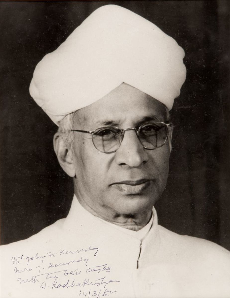 Dr. S. Radhakrishnan whose birthday is celebrated as Teacher's Day in India