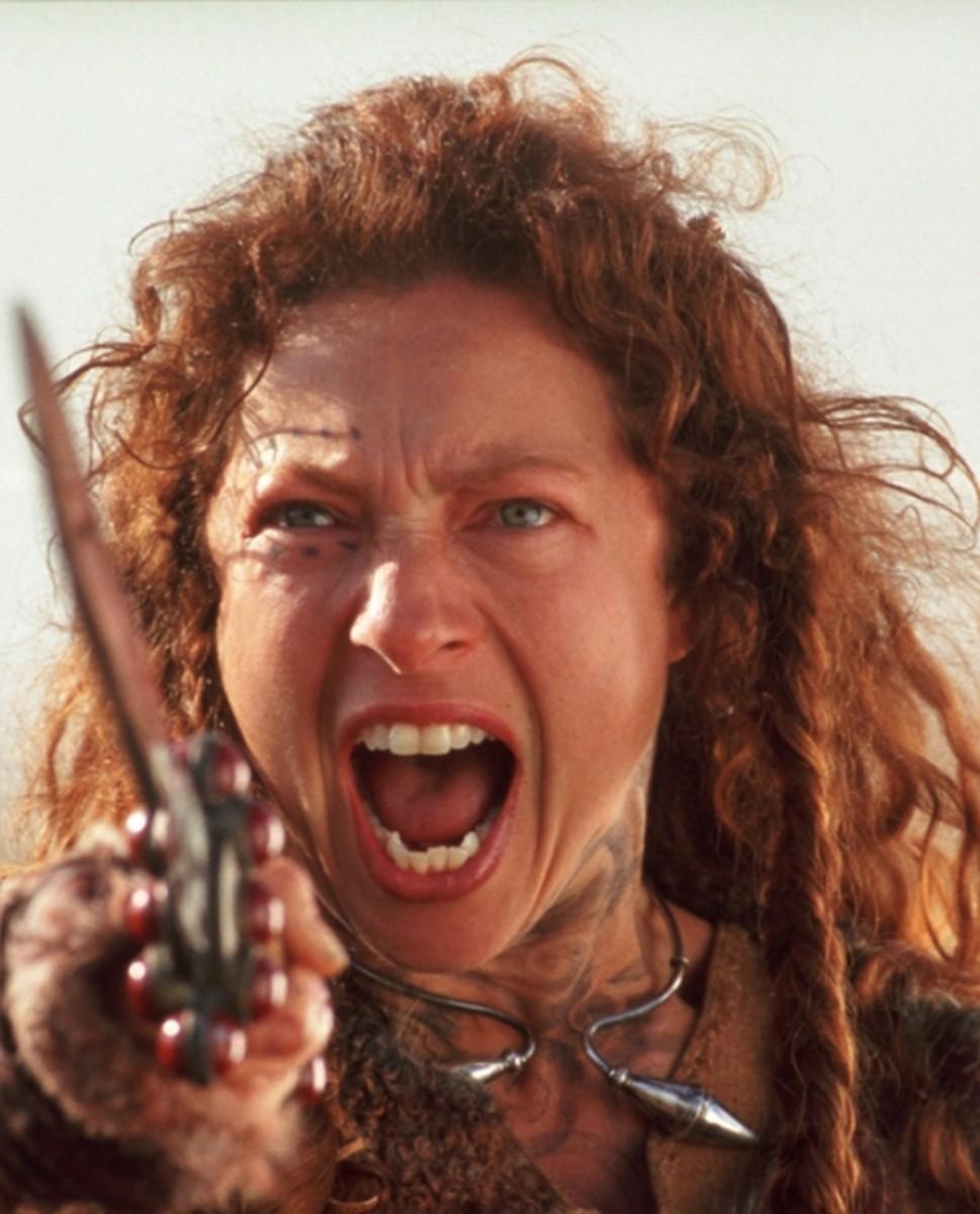 Still Capture From The Film Starring Alex Kingston as Boudica tumblr_ln87xwr3hn1qk