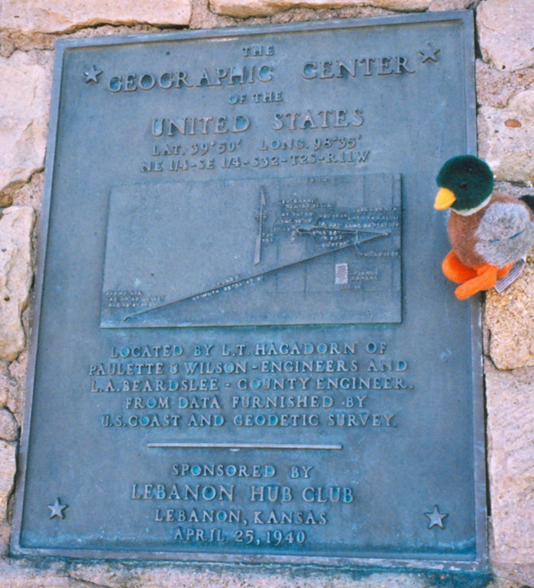 Geographic Center of the United States Historical Marker
