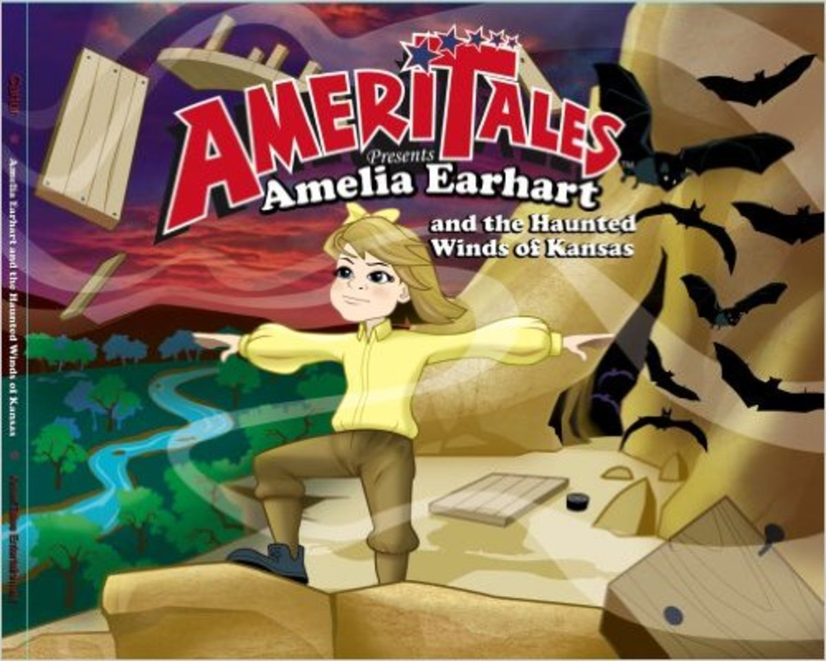Amelia Earhart and the Haunted Winds of Kansas (Ameritales) by T.D. Carter