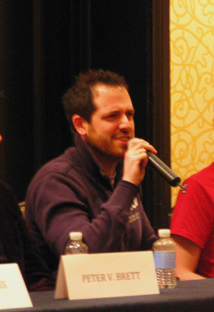 Joe Abercrombie at the opening ceremonies of ConFusion 2012