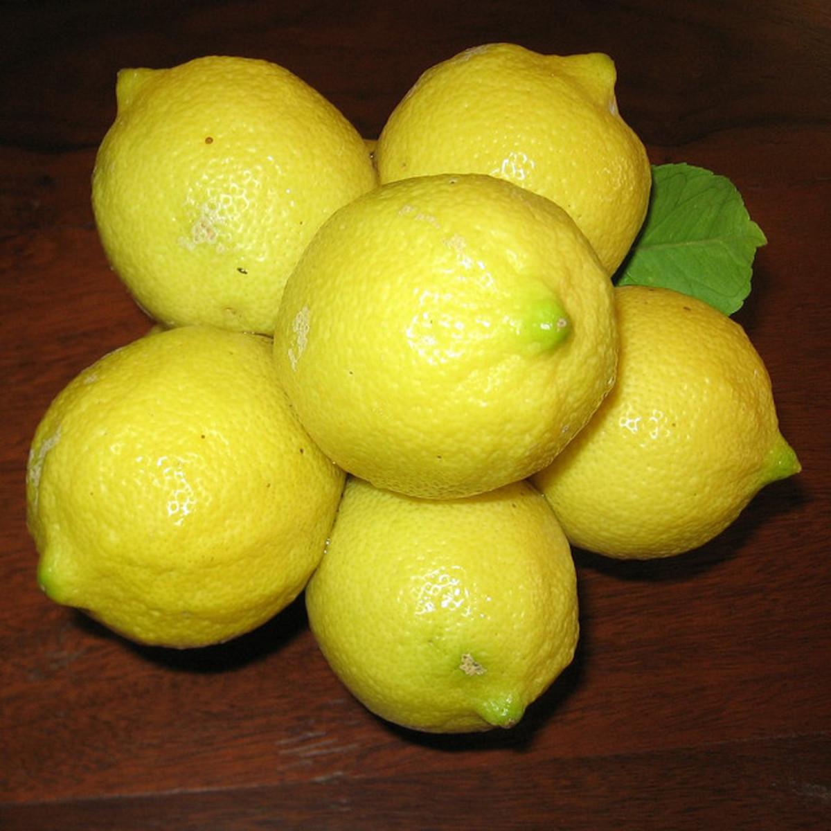 Healthy cluster of vibrant lemons