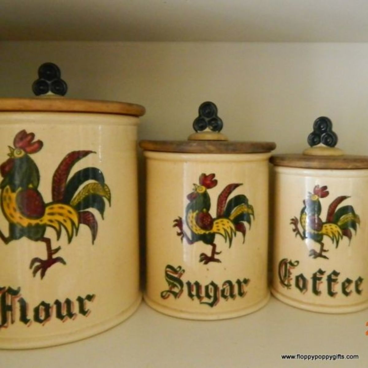 I have 4 canisters: Flour, Sugar, Coffee & Tea