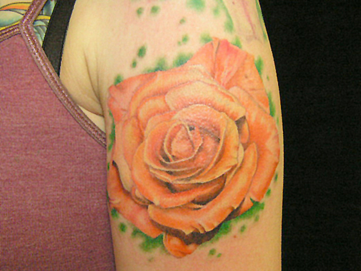 Orange Rose Tattoo