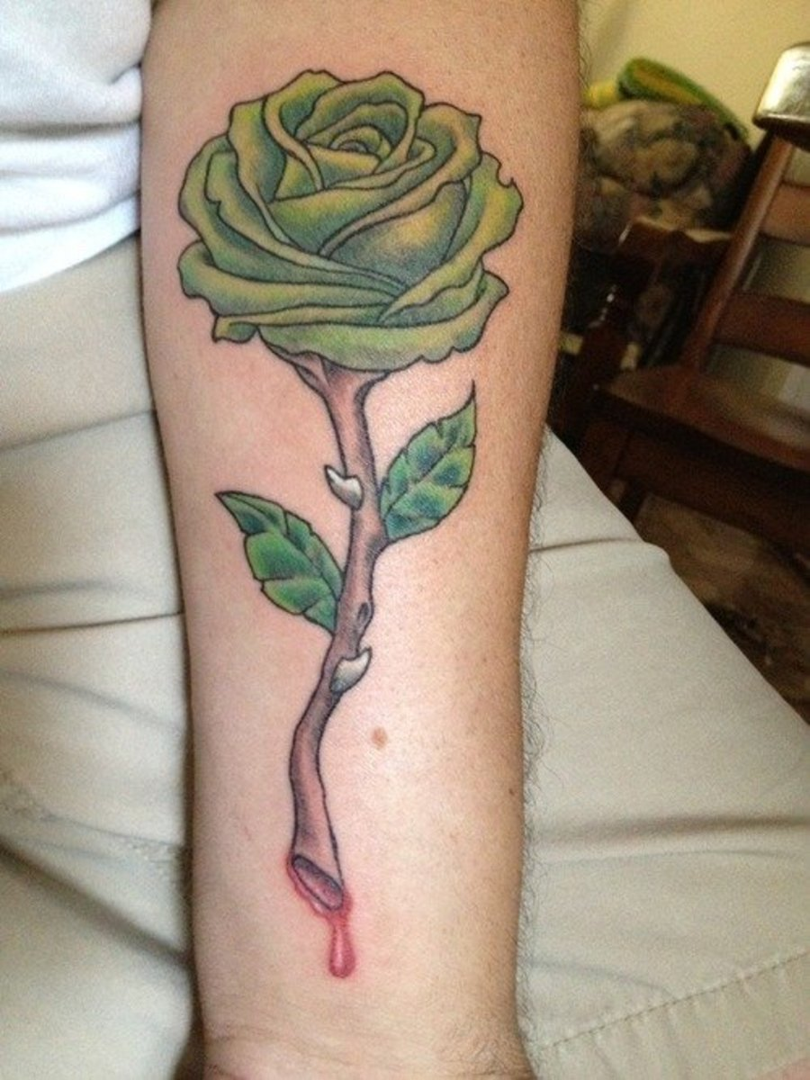Green Rose Tattoo