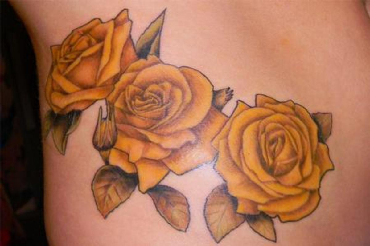 Yellow Roses Tattoo