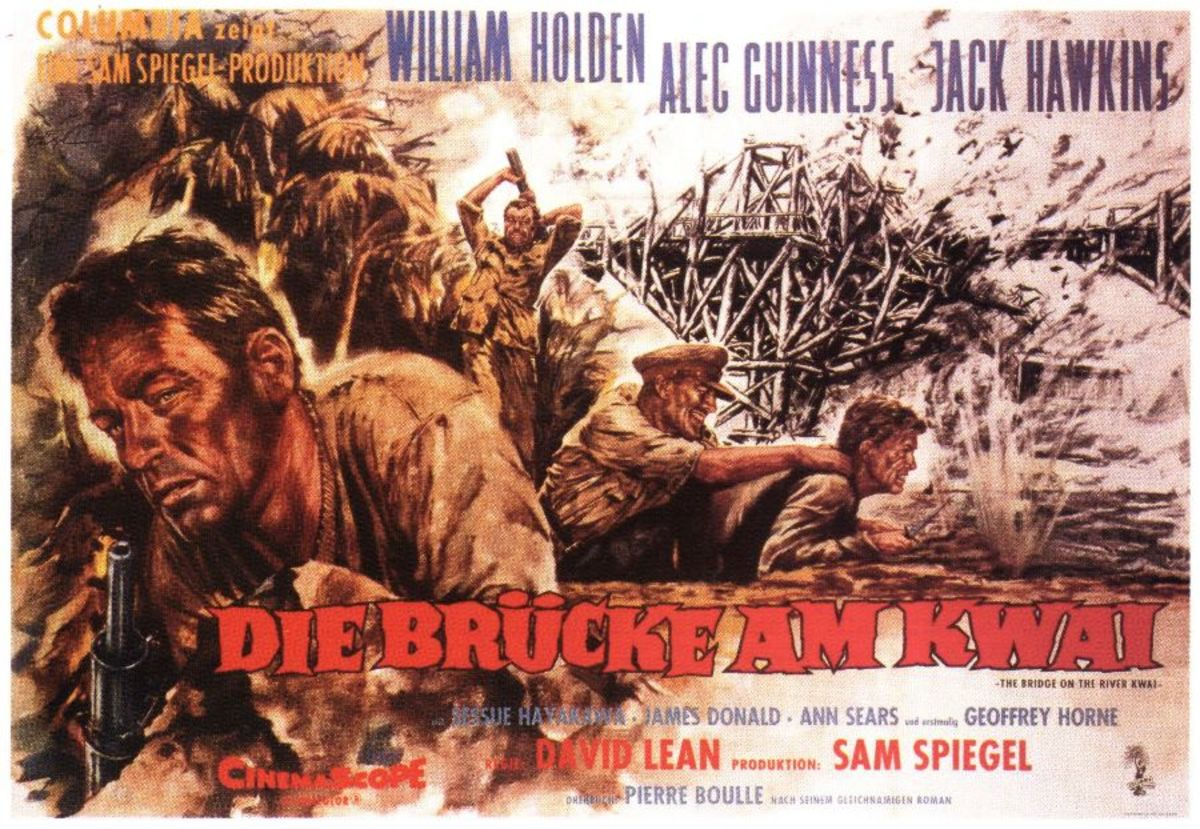 The Bridge on the River Kwai (1957) German poster