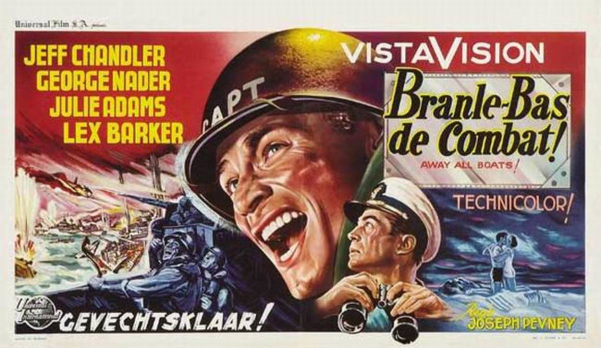 Away All Boats (1956) Belgian poster
