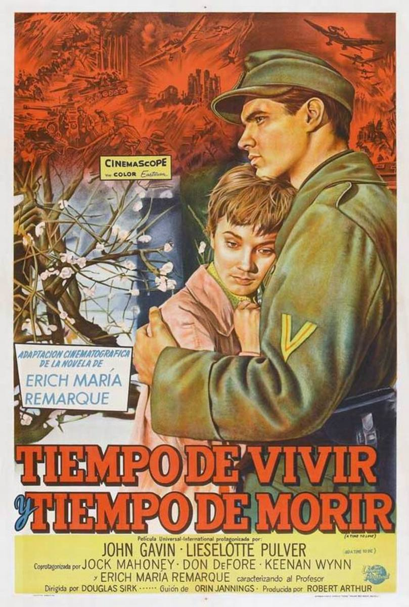 A Time to Love and a Time to Die (1958) Argentinian poster