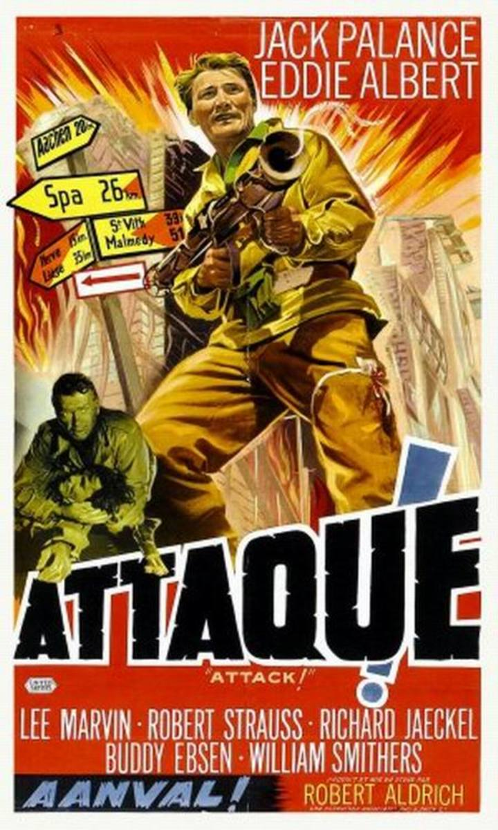 Attack (1956) French poster