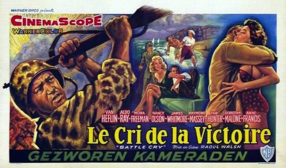 Battle Cry (1955) Belgian poster
