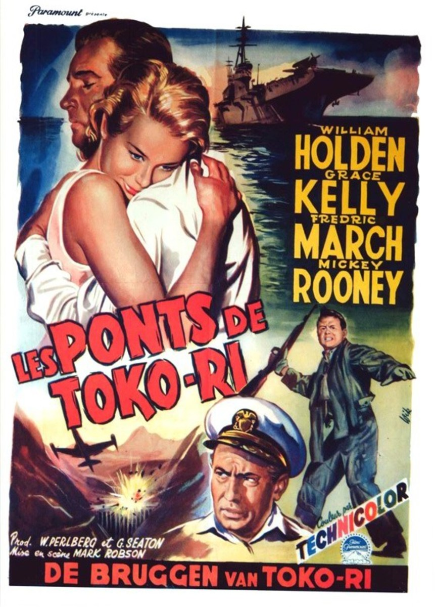 The Bridges at Toko-Ri (1954) Belgian poster