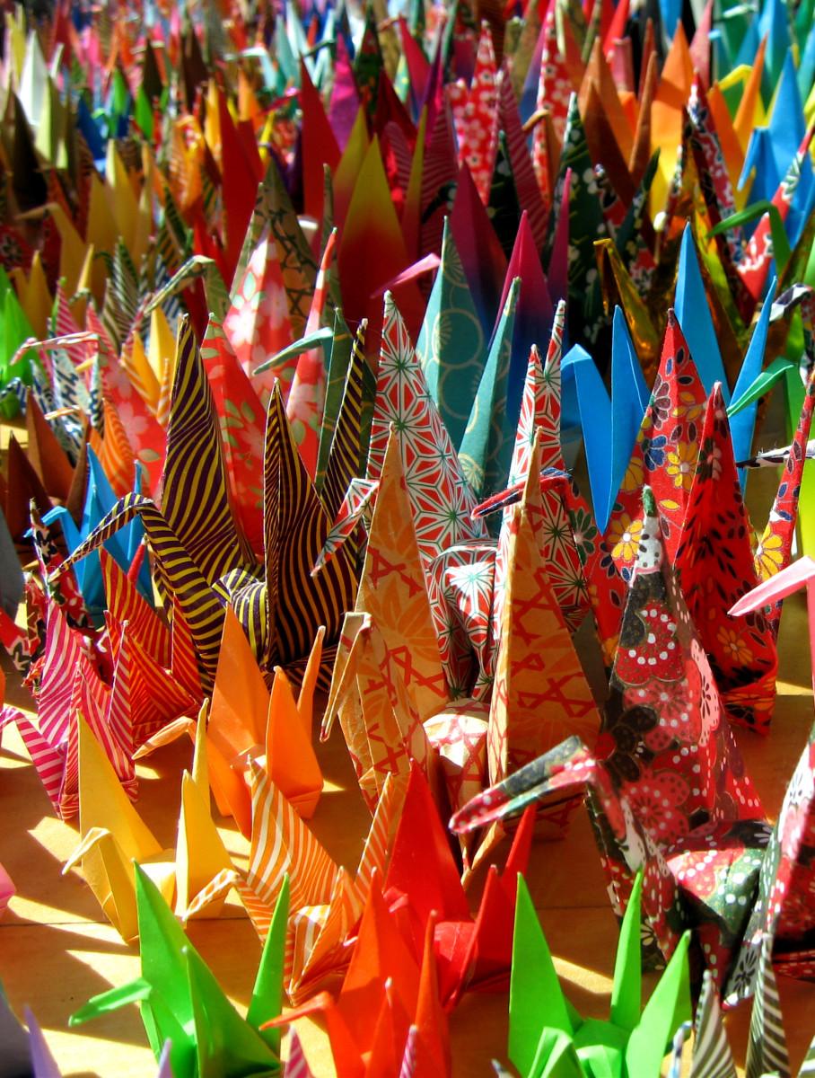 folded-paper cranes