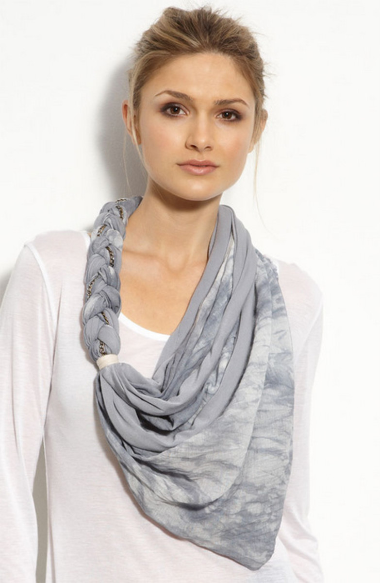 This scarf encoporates braiding and draping.