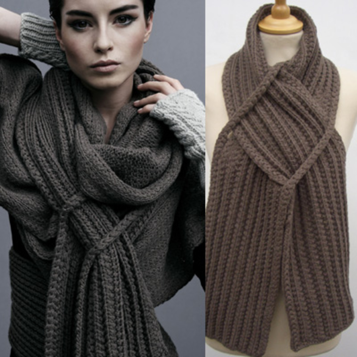 This tangled scarf looks very cozy.