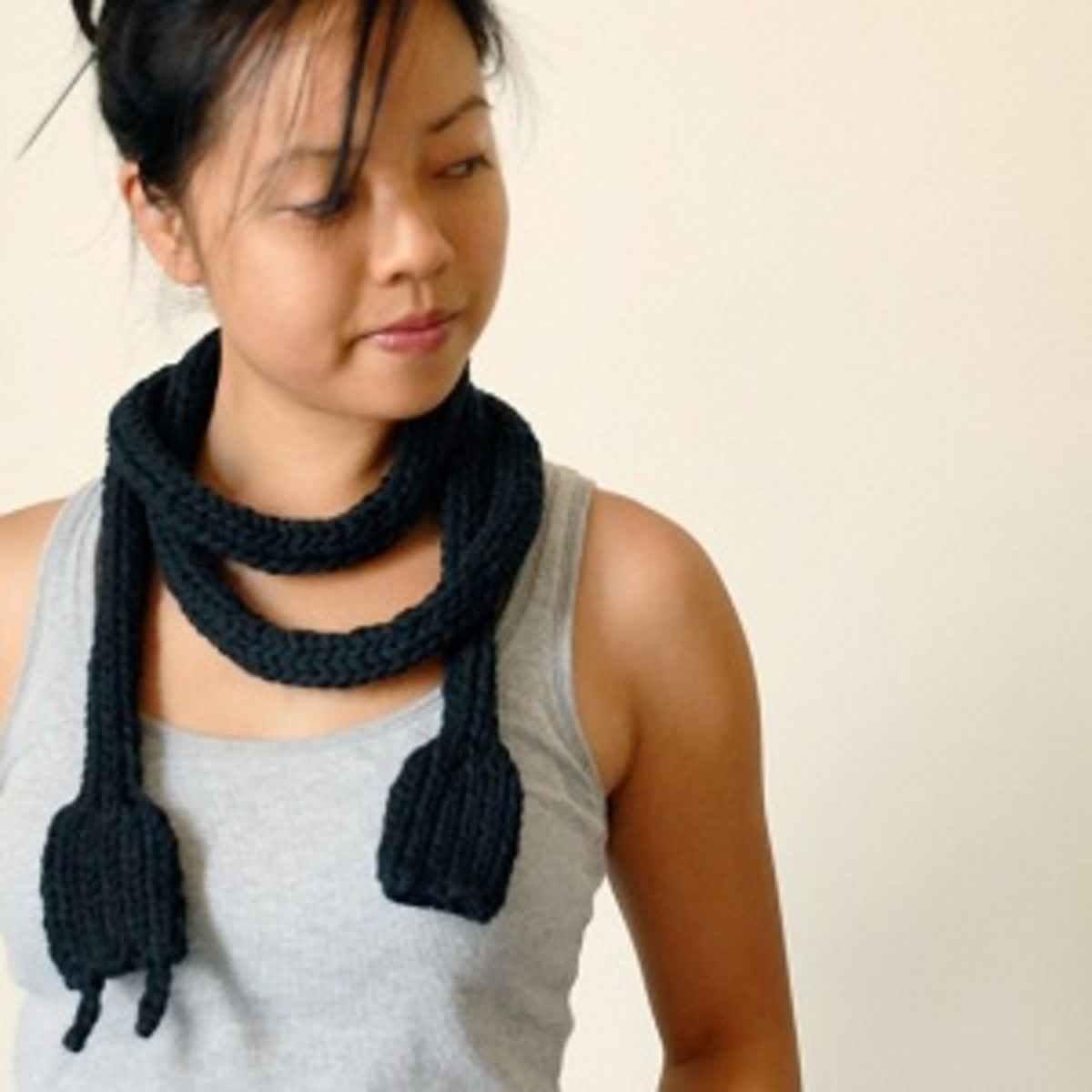 A crocheted power cord is quirky and cute.