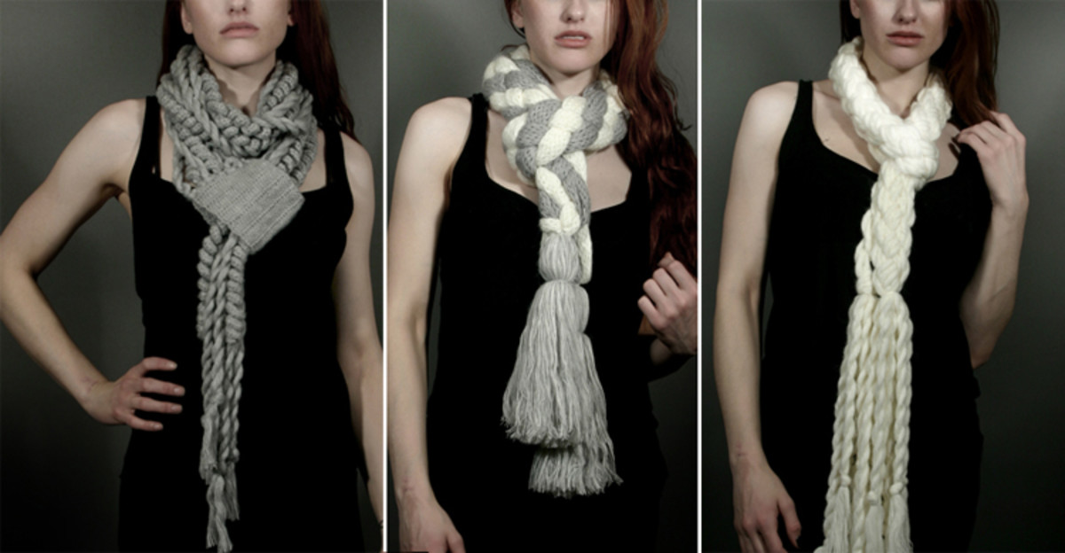 Roped scarves look nautical yet trendy.