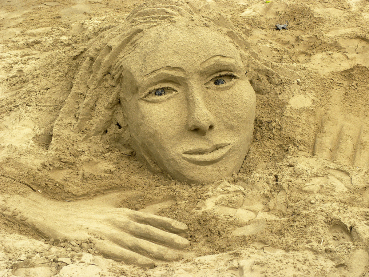 When you are at a beach, don't feel limited to making only sandcastles.  You can make almost anything in the sand.