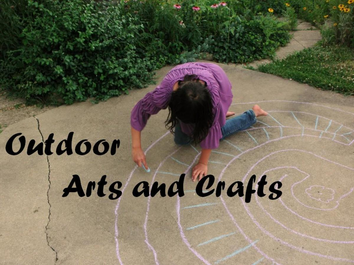 The sidewalk or patio can be a wonderful reusable canvas for chalk art.