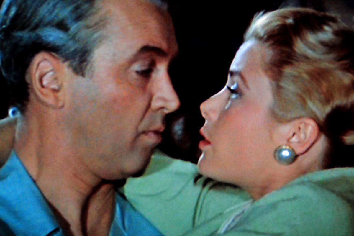 James Stewart and Grace Kelly as 'Jeff' Jefferies and Lisa in 'Rear Window'