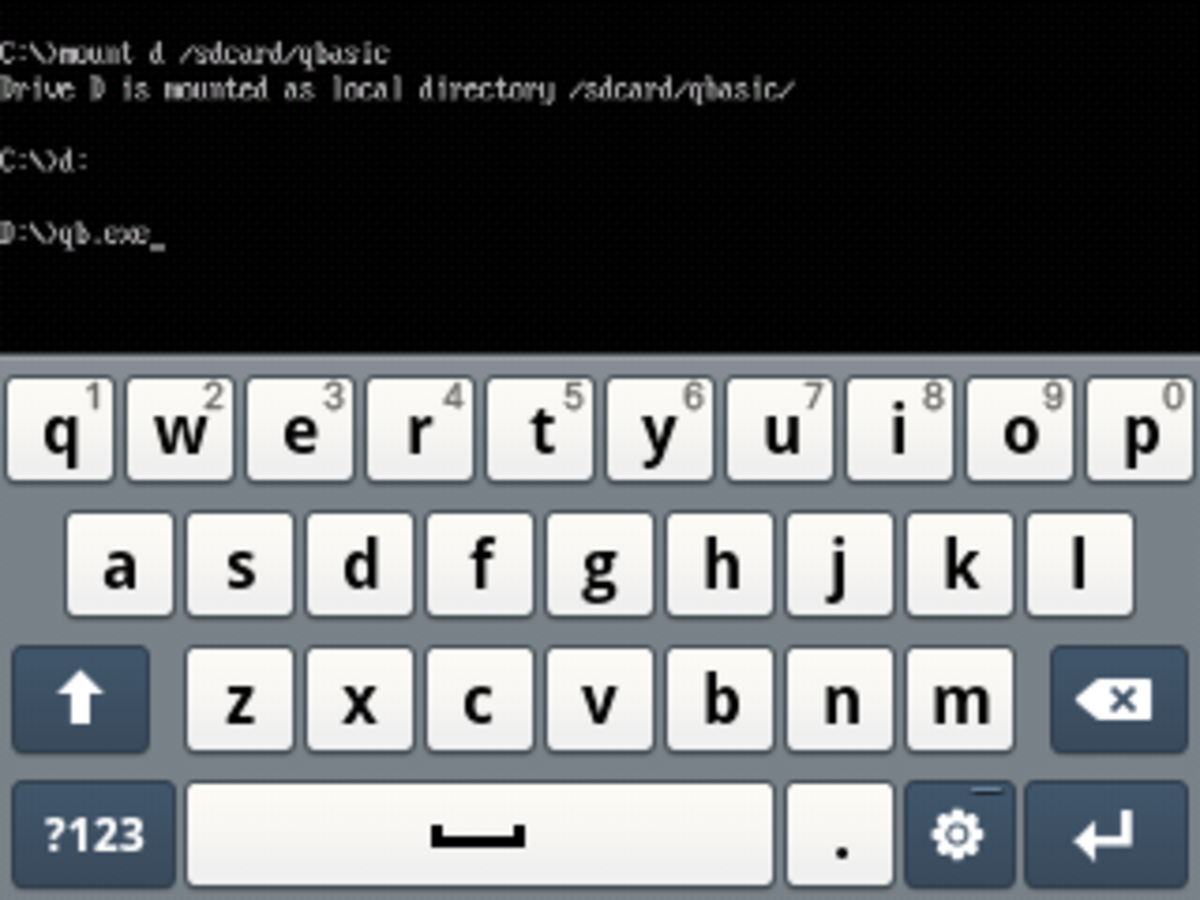 run-qbasic-on-android