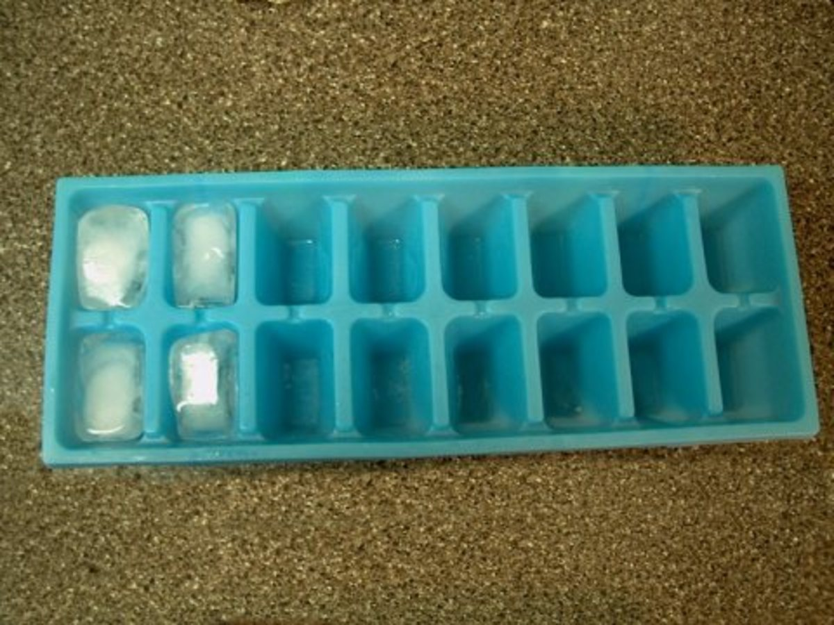 Ice cube helps to shrink large and painful pimples