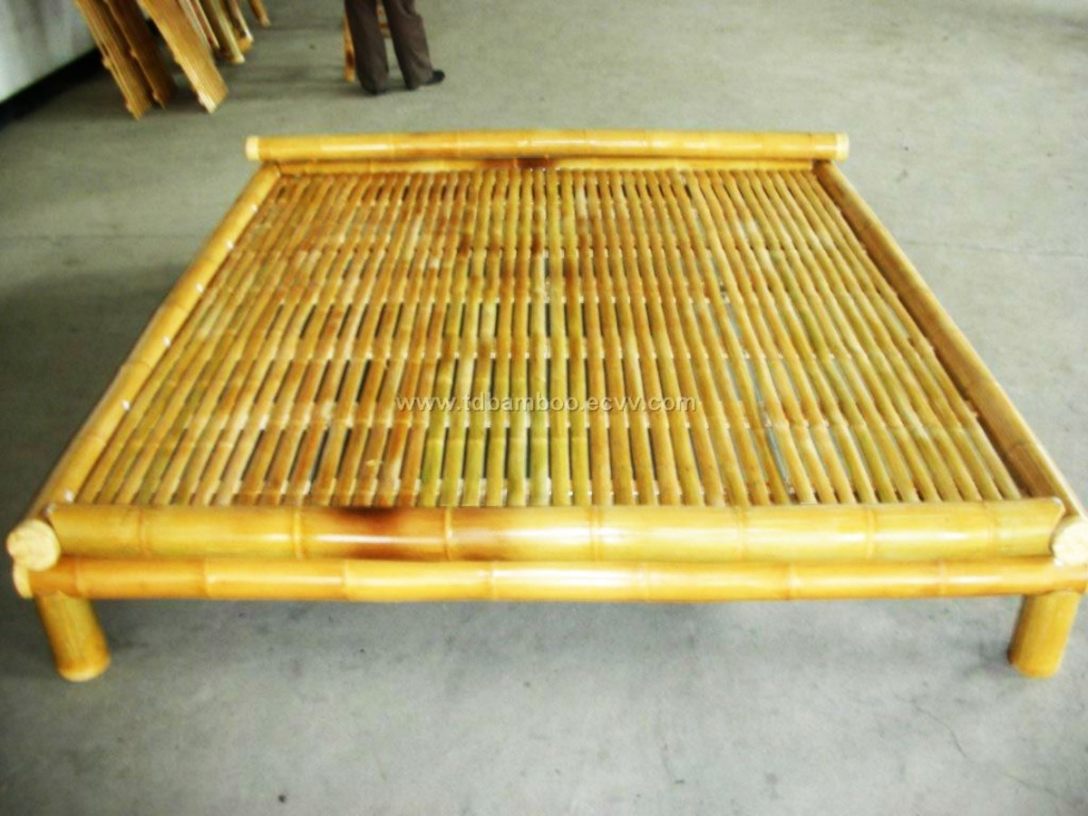 My pa made a bamboo bed similar to this. It is cool and cozy to sleep on.