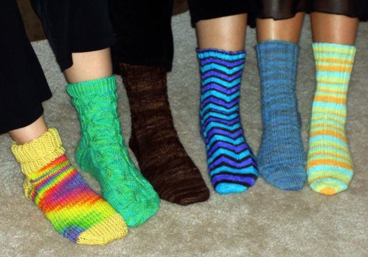 Knitted socks are a favorite.