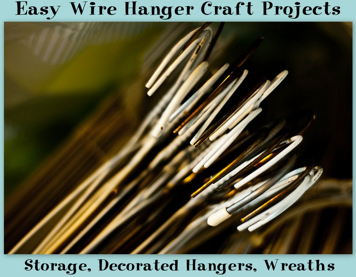 Put all of those extra wire hangers in your closet to good for Very simple wire craft projects