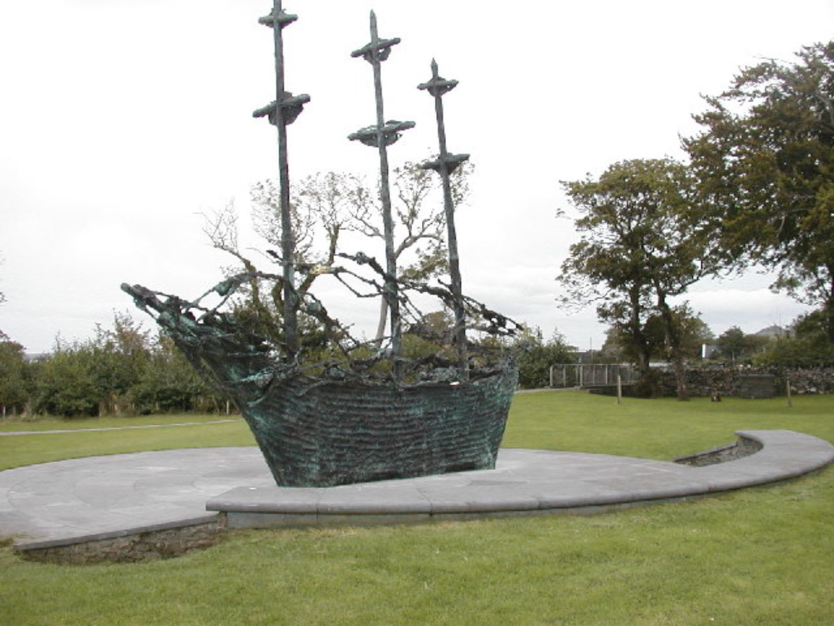 Coffin Ship in Murrisk, Co. Mayo.