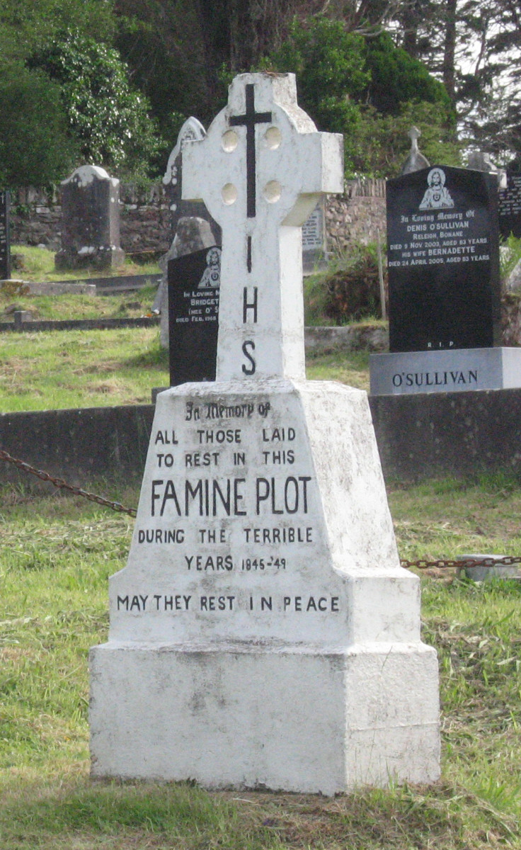Mass grave for Kenmare victims of the Irish Famine.