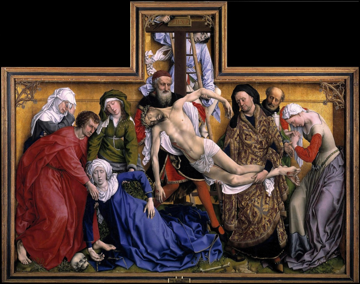 Rogier Van Der Weyden's painting Descent From The Cross